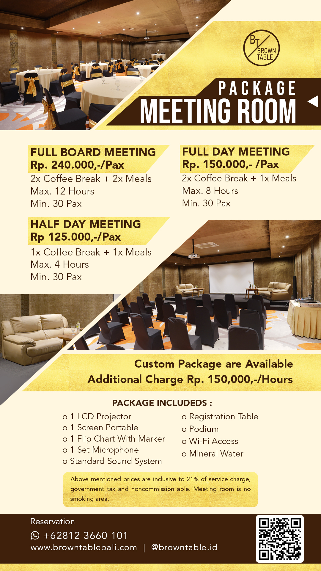 Meeting Room Package Gold with Barcode